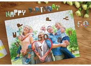 Personalised Jigsaw Puzzle with specialised pieces